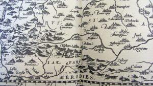 Фрагмент карты Польского королевства Вацлава Гродецкого из нидерландского атласа Абрахама Ортелия, 1570 г.