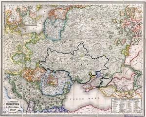 «Славянские земли» по Шафарику (1842)