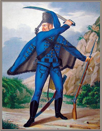 Рядовой Сербского гусарского полка (1741–1761)