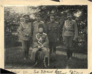 Генерал Брусилов со своим штабом