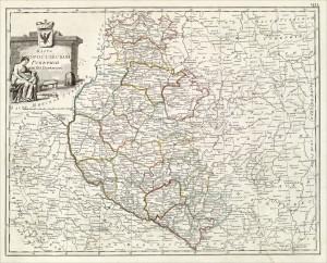Карта Малороссийской губернии из 20 поветов (1800)