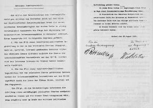 Подлинник секретного протокола к договору (немецкая версия)