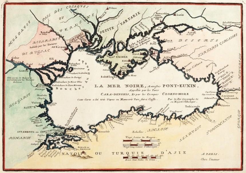 La_Mer_Noire_Autrefois_Pont-Euxin,_Cara-Denghis_Et_par_les_Cosaques,_Nikolas_de_Fer_(Paris,_1705)