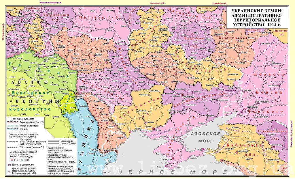 Украинские губернии российской империи