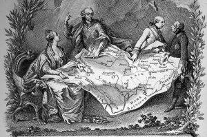 Первый раздел Польши в 1772 году. Французская гравюра.