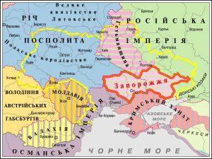 Украинські землі бл. 1750 р.
