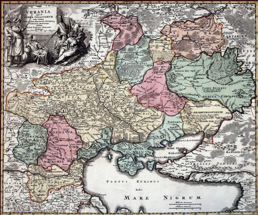 Карта Украины 1712