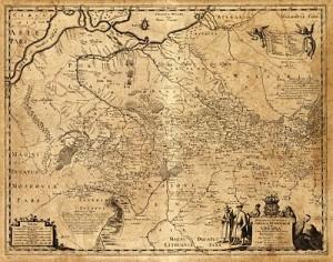 Карта Дикого Поля або України Гійома де Боплана, 1648.