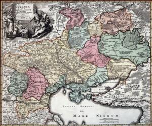 """Україна або земля козаків"" Йоганна Гоманна, 1712"