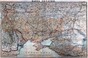 Карта України 1918