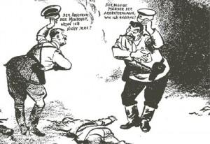 Гитлер: Недочеловек, если я не ошибаюсь? Сталин: Кровавый убийца?