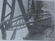Міст в Торуні, підірваний польськими диверсантами. 1938 р