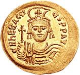 Солид Ираклия, чеканенный в 610–613 гг.