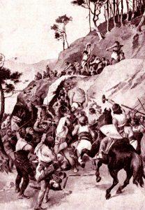 Битва при Вогастибурге глазами известного чешского художника-иллюстратора Зденека Буриана.