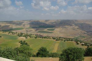 Современный вид поля битвы при Ярмуке (Иордания)
