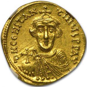 Солид Константа ІІ, чеканенный в 641– 646 гг.