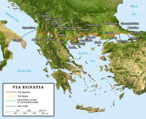 Карта-схема Via Egnatia.
