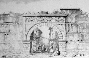 Остатки Золотых ворот Фессалоники (рисунок середины ХІХ в.)