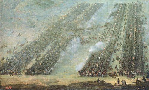 Полтавська битва, 8 липня 1709 року (невідомий художник, близько 1760 р.)