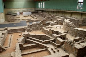 Музеефицированные результаты археологических исследований императорского дворца в Сирмии/Сремской Митровице.