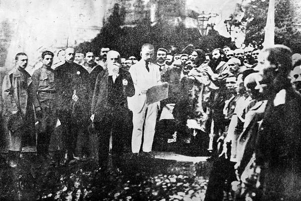 Проголошення Першого Універсалу Української Центральної Ради на Софійській площі у Києві