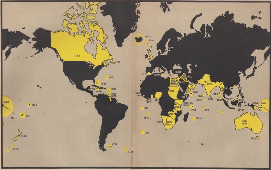 Хижацька кампанія Англії на п'яти континентах