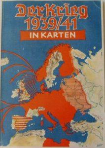 """Обкладинка нового атласу """"Війна 1939/41 в картах"""", виданого у 1942 році"""
