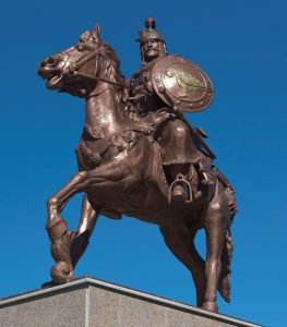 """Памятник """"отцу болгарского народа"""" Аспаруху в г. Стрелча."""