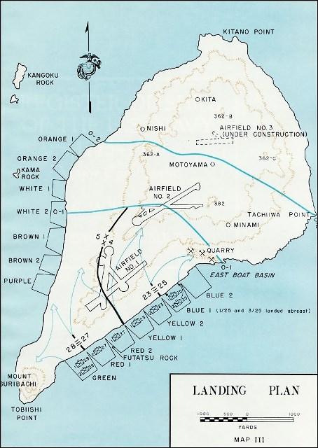 План американського десанту на Іодзіму