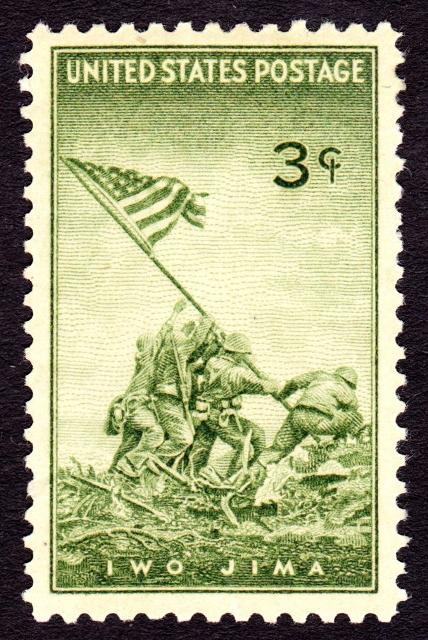 Встановлення прапору на Іодзімі, поштова марка США