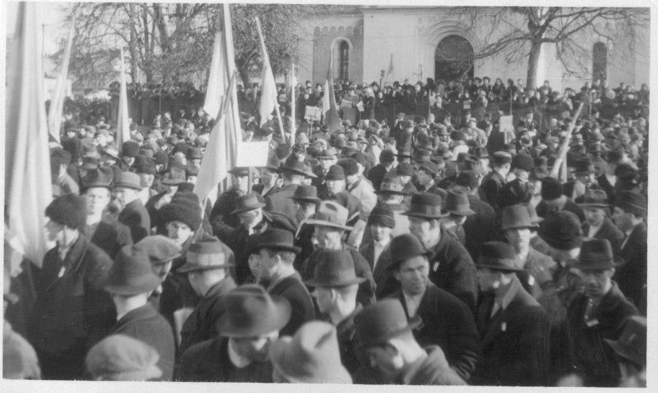 03 Святковий мітинг на День Злуки. Хуст, 22 січня 1939 року