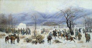 Алексей Кившенко. Сражение у Шипки-Шейново 28 декабря 1877 года. 1894