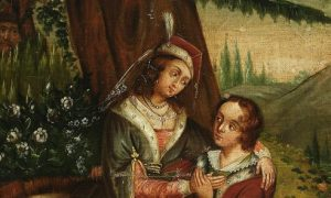 Іван Керітка (?). Мазепа зізнається у коханні Терезії, XVIII ст.
