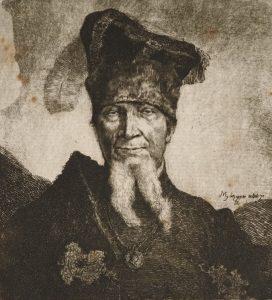 Ян Пйотр Норблін. «Мазепа, жид-орендар з маєтку Чарторийських» (Mazepa aetat 70), 1775 р.