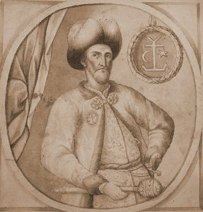 Іл.2. Невідомий художник. Портрет Івана Мазепи з літопису Самійла Величка, 1720-ті рр.