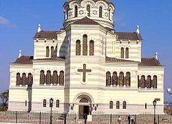 Владимирский собор в Херсонесе. Построен в 1861-1891 гг. на легендарном месте крещения князя Владимира.